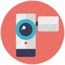 camcorder, camera, handycam, video camera, video recorder icon