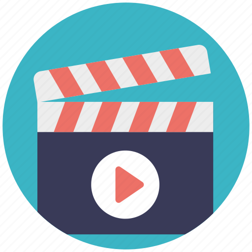 clapboard, film production, movie production, video production, vlogging icon