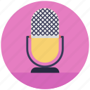 mic, microphone, mike, mouthpiece, music symbol icon