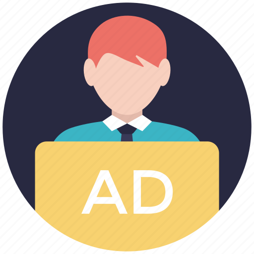 advertiser, advertising agency, marketer, marketing agent, publicity icon