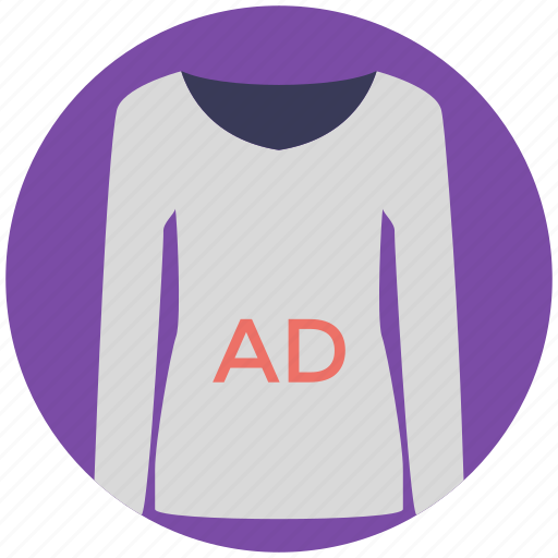 ad on shirt, ad shirt, corporate identity, printed shirt, promotional product icon