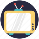 antenna tv, retro tv, tv, tv set, vintage tv icon