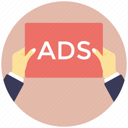 ads paper, advertisement, banner, pamphlet, placard icon