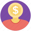 business concept, business mind, capitalist, investor, money maker icon