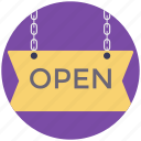 open sign, shop sign, signage, signboard, signpost