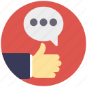 friendly communication, like symbol, social like, social media feedback, thumbs up icon