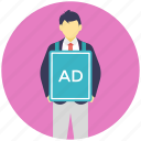 advertiser, advertising, marketing, promoter, sponsor icon