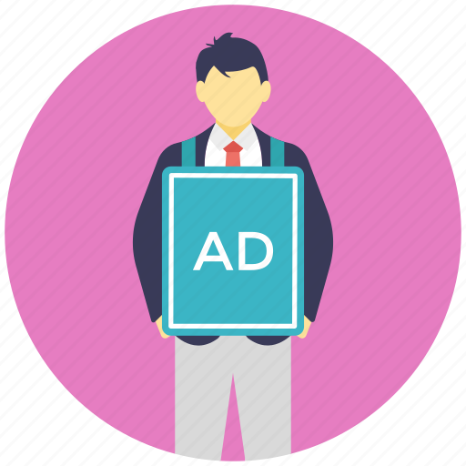advertiser, advertising, marketing, promoter, sponsor icon