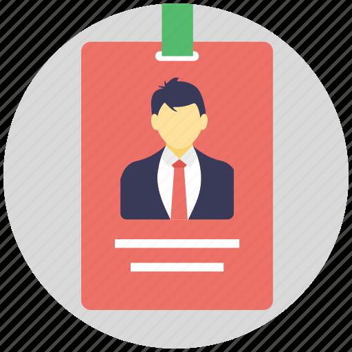 business card, employe card, identity card, office card, university card icon