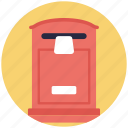 correspondence, letter box, mail services, post box, postal services icon