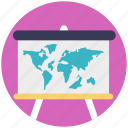 destination direction, easel education, geography flipchart, map display, navigation marker icon