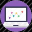 business chart, graphic analytics, online analysis, web analytics icon