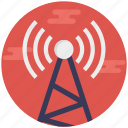 telecom tower, satellite tower, telecommunication tower, radio repeater, signal tower icon