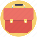 bag, business briefcase, document bag, portfolio, school bag icon
