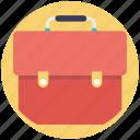 bag, business briefcase, document bag, portfolio, school bag icon