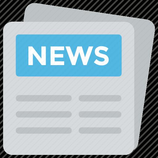 journalism, news article, newsletter, newspaper, print media icon