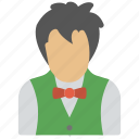 bartender, butler, chauffeur, servant, waiter icon