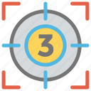 focus in aiming, shooting focus, shooting target, target, target point icon