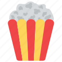 cinema food, entertainment, movie time, popcorns, snacks icon