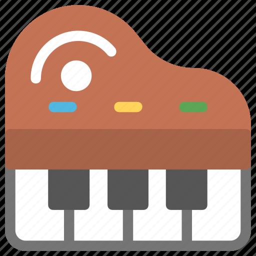 music, musical instrument, piano, piano chords, piano keyboard icon