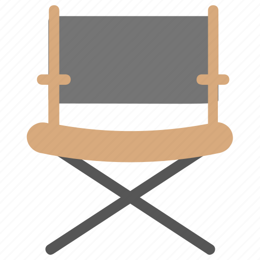 cinema chair, director chair, director seat, furniture, movie director seat icon