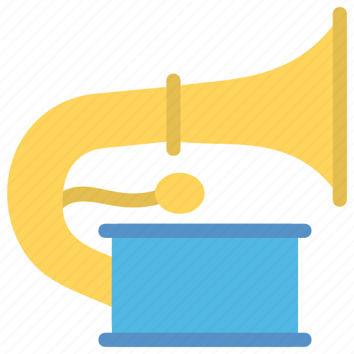 gramophone, music, music instrument, musical instruments, musical notes icon