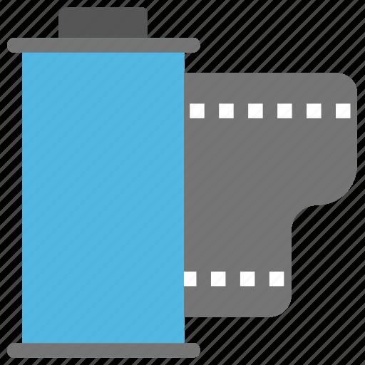 film cartridge, film roll, photo film cartridge, photographic film, retro photography equipment icon
