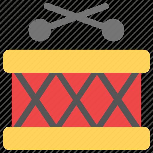 drum with sticks, music, music instrument, musical drum, snare drum icon