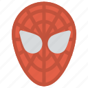 fictional superhero, spiderman, spiderman costume, spiderman face shell, spiderman mask icon