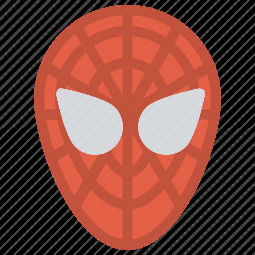 fictional superhero, spiderman, spiderman costume, spiderman face shell, spiderman mask icon