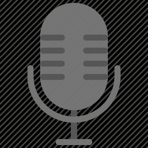 mic, microphone, music, singing, vintage microphone icon