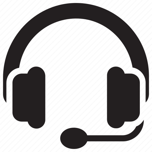 audio call, disco jockey, dj, headphone with mic, headset icon