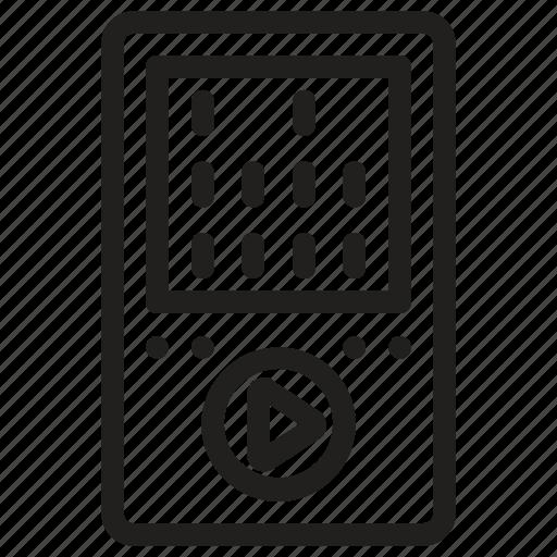 ios, ipod, mp4 player, music player, walkman icon