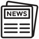 journalism, news article, newsletter, newspaper, print media icon