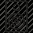 concert speaker, loudspeaker, sound system, speaker, speaker box icon