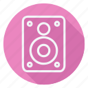 media, multimedia, music, video, audio, soundbox, speaker icon