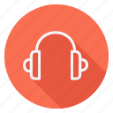 audio, headphones, media, multimedia, music, photography, video icon
