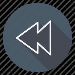 audio, back, media, multimedia, music, previous, video icon