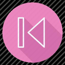 audio, media, multimedia, music, next, previous, video icon