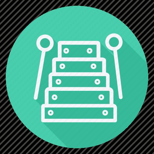 audio, media, multimedia, music, photography, video, xylophone icon
