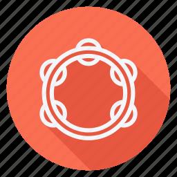 audio, media, multimedia, music, photography, tambourine, video icon