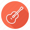 audio, guitar, media, multimedia, music, photography, video icon
