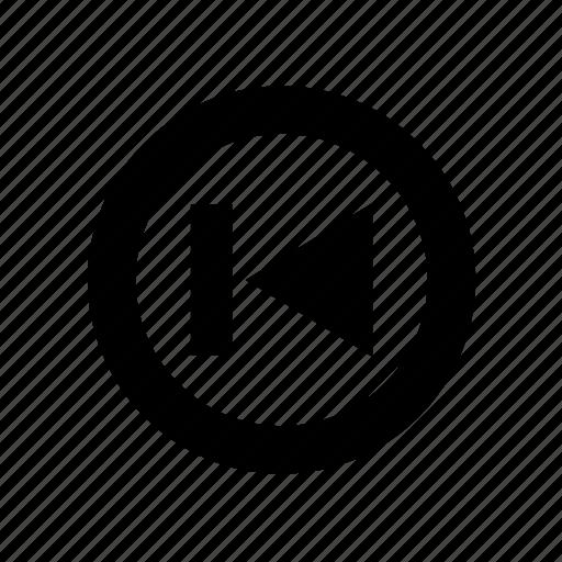 audio control, backwards, first, media button, media control, multimedia, previous, track icon