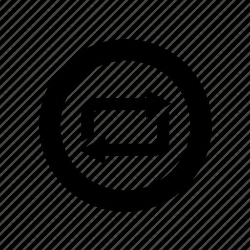 button, control, loop, media, refresh, reload, repeat icon
