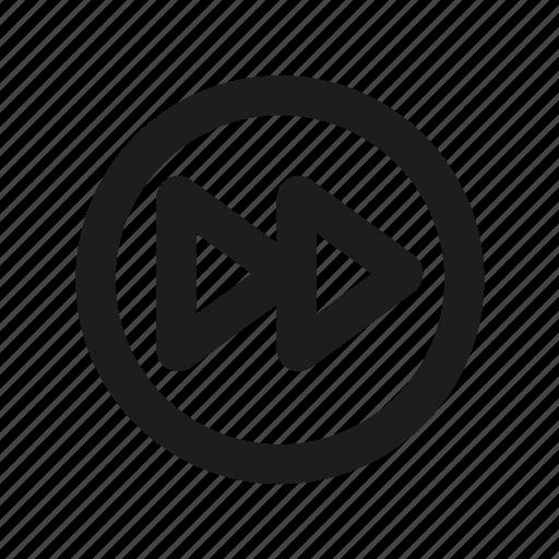 fast forward, forward, media, media button, next, player icon