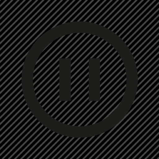 media, pause, pause button, pause media, stop icon