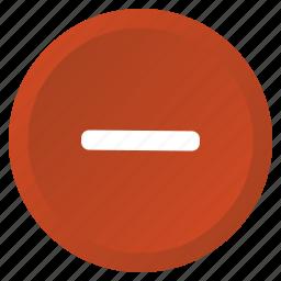 control, delete, minimize, minus, remove icon