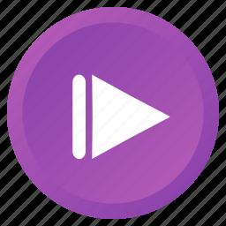 arrow, audio, control, multimedia, next, track, video icon