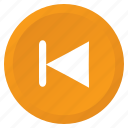 control, multimedia, previous, rewind, song, track, arrow