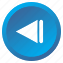 arrow, backward, control, media, multimedia, previous, track icon
